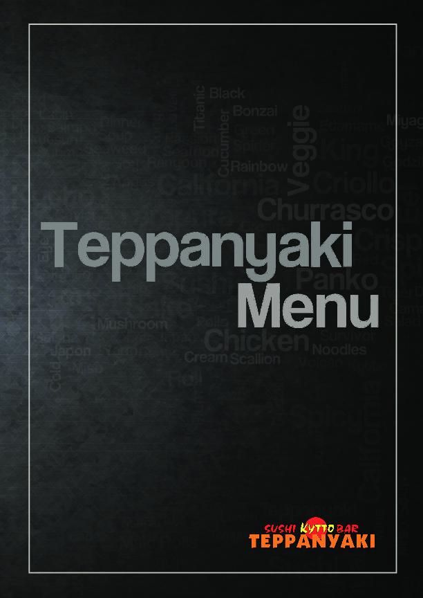 Teppanyaki Menu